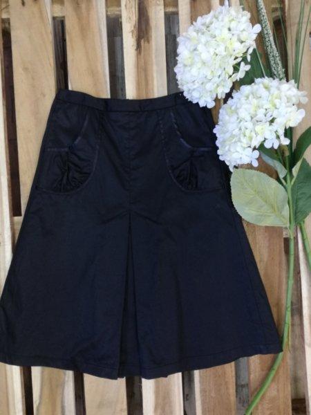 Дамска разкроена  пола с джобове